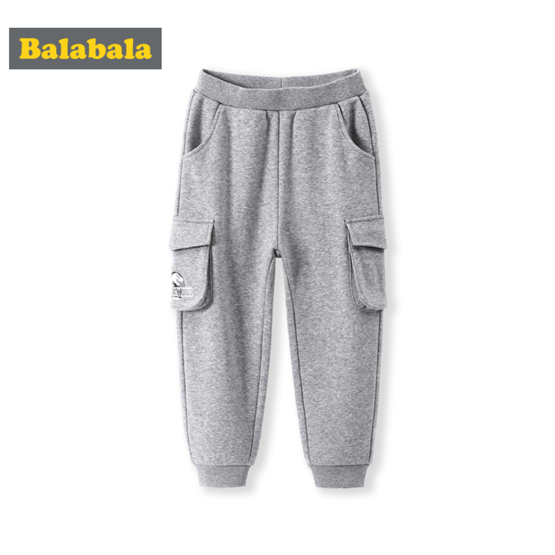 Balabala Todder Boy Cargo Joggers with Open Pocket Children Kids Pull-on Sweatpants Sport Pants with Ribbed Waistband and Hem