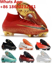 c79b636ec4e Mercuriales Superfly V FG AG CR7 Ronaldo Soccer Cleats High Ankle Neymar JR Soccer  Shoes Magista