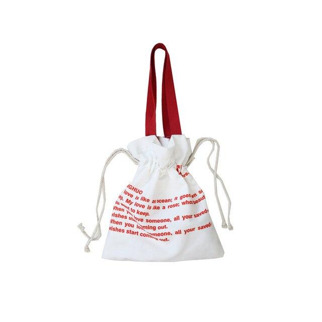 Senhora sacola de lona cordão verão petit sac a principal femme 2019 nouveau saco coreano bolsas de ombro bonito para as meninas sacos de mão