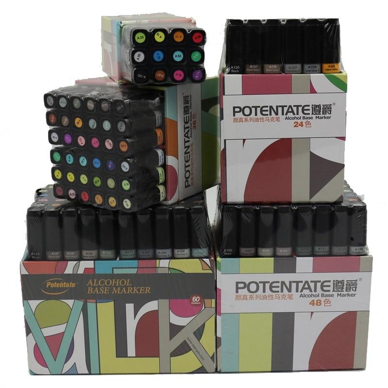 caneta marcador de oleo 12 24 36 48 60 cores arte canetas marcador para animacao design