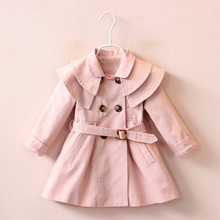 LZH Girls Windbreaker 2018 Spring Autumn Baby Girls Jacket For Girls Trench Coat Floral Infant Coat Jacket Kids Children Clothes