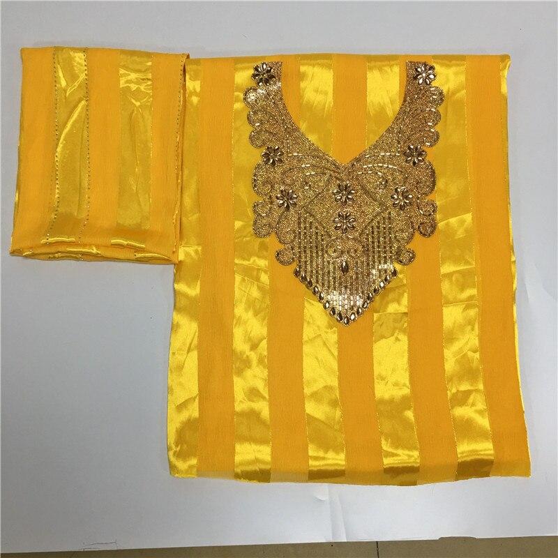 Tissu en soie de haute qualité pour robe de dame brodé tissu en soie george tissu en soie métallique africaine 114 cm/8mm 5 + 2 yards LXE02282