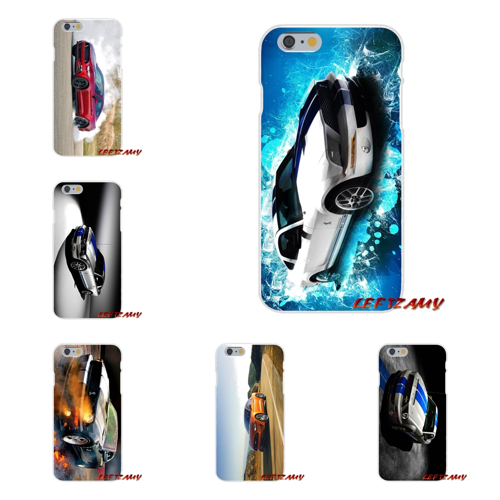 Ford GT Mustang Car Fashion Slim Silicone phone Case For iPhone X 4 4S 5 5S 5C SE 6 6S 7 8 Plus