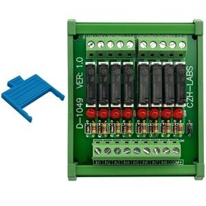 Image 3 - Slim מסילת DIN הר DC12V כיור/NPN 8 SPST NO 5A כוח ממסר מודול, PA1a 12V