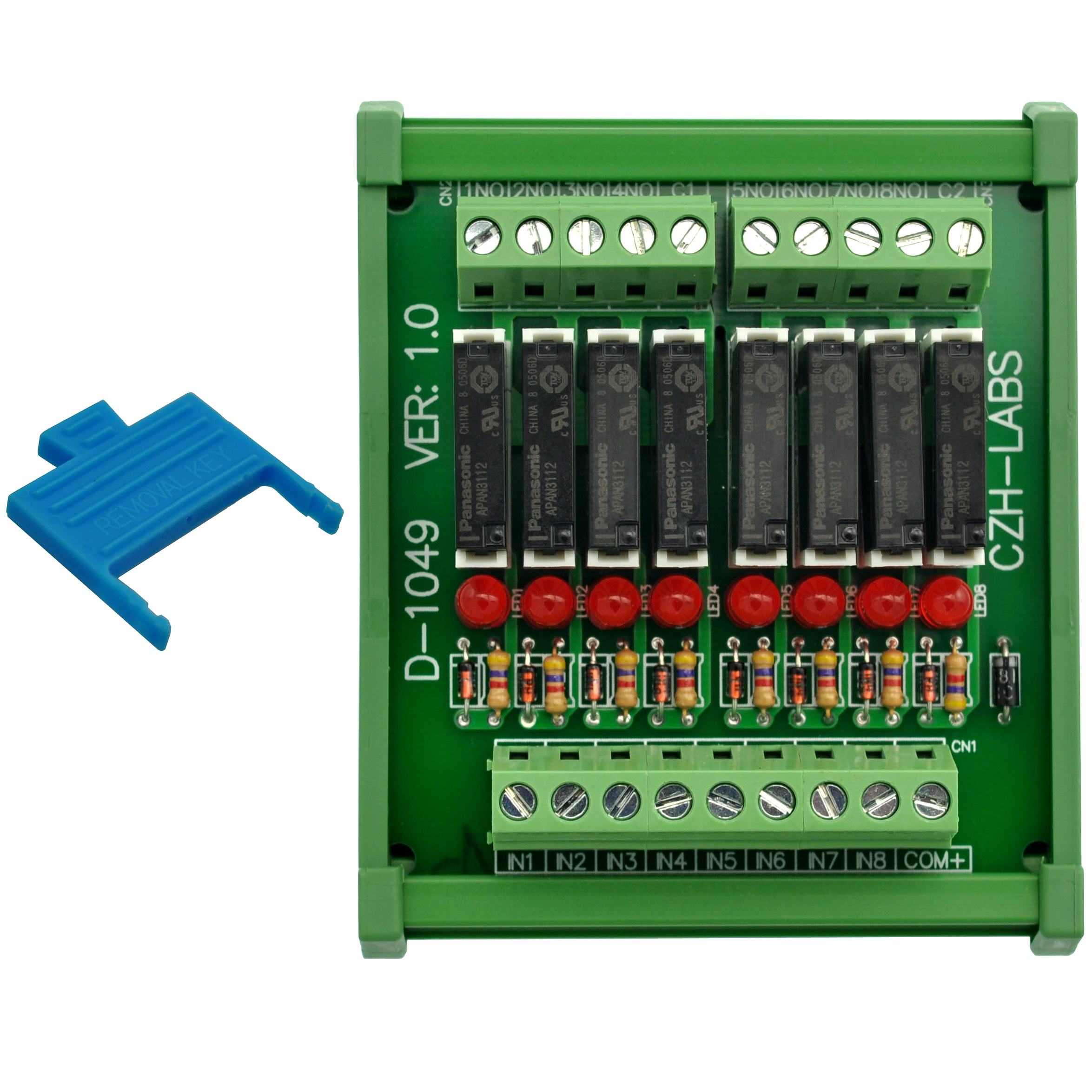Image 3 - Slim DIN Rail Mount DC12V Sink/NPN 8 SPST NO 5A Power Relay Module, PA1a 12V-in Electronics Stocks from Electronic Components & Supplies