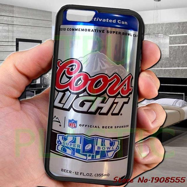 Coors Light Logo Can Brew Beer Black Cell Phone Case Cover For Iphone 4 4s 5