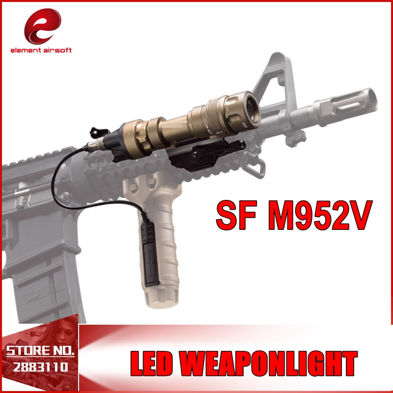 Airsoft SF M952V LED Tactical Weapon Light CREE Q5 Rifles Flashlight White and IR Output Softair EX192 WATERPROOF AND SHOCKPROOF greenbase m952v ir scout light led weaponlight constant white ir momentary white mode output waterproof flashlight qd mount