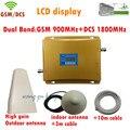 Pantalla LCD GSM 900 4G LTE 1800 Repetidor GSM 900 1800 mhz 65dB Doble Banda Celular Repetidor Amplificador Amplificador de Señal de Teléfono Móvil