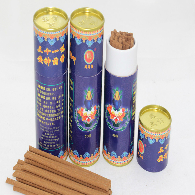 Tibetan Incense Soothe Sleep Aid Aromatherapy Yoga Room Relaxing Aroma Chinese Medicine Relieves Stress Purifying Air Incense