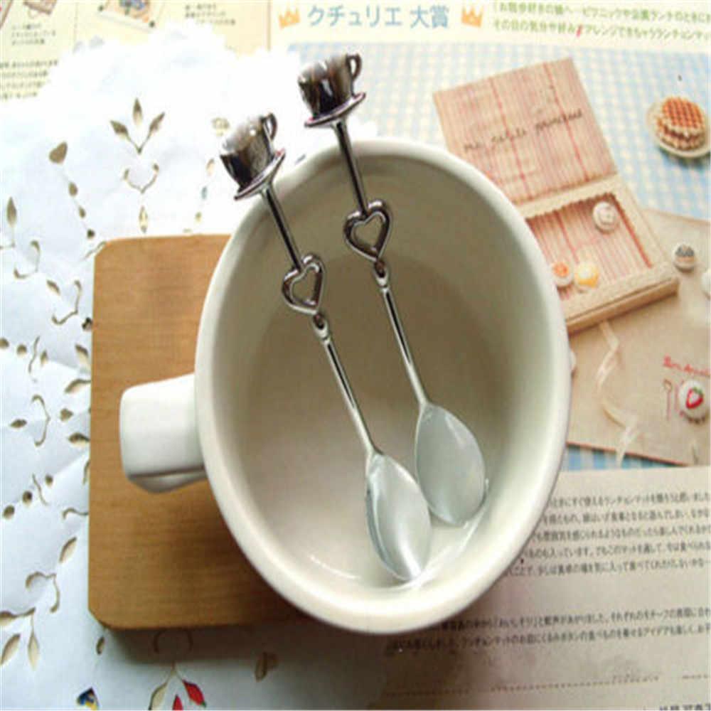 Colher de café para casamento 2 pçs/lote, colher de café para presentes de casamento para convidados lembrança de eventos e suprimentos para festas