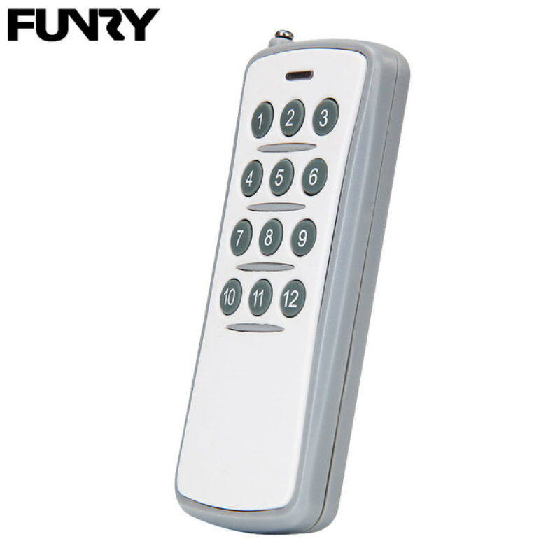 Original Funry Wireless Smart Remote Control 12 Buttons Wall Light Switch Accessories RF433 MHz 20M DC 12V/23A Multiple Control