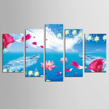 5 pcs Hot Sell New Art HD Pictures Canvas Paintings Wall Work More Beautiful Flowers Vivid Life