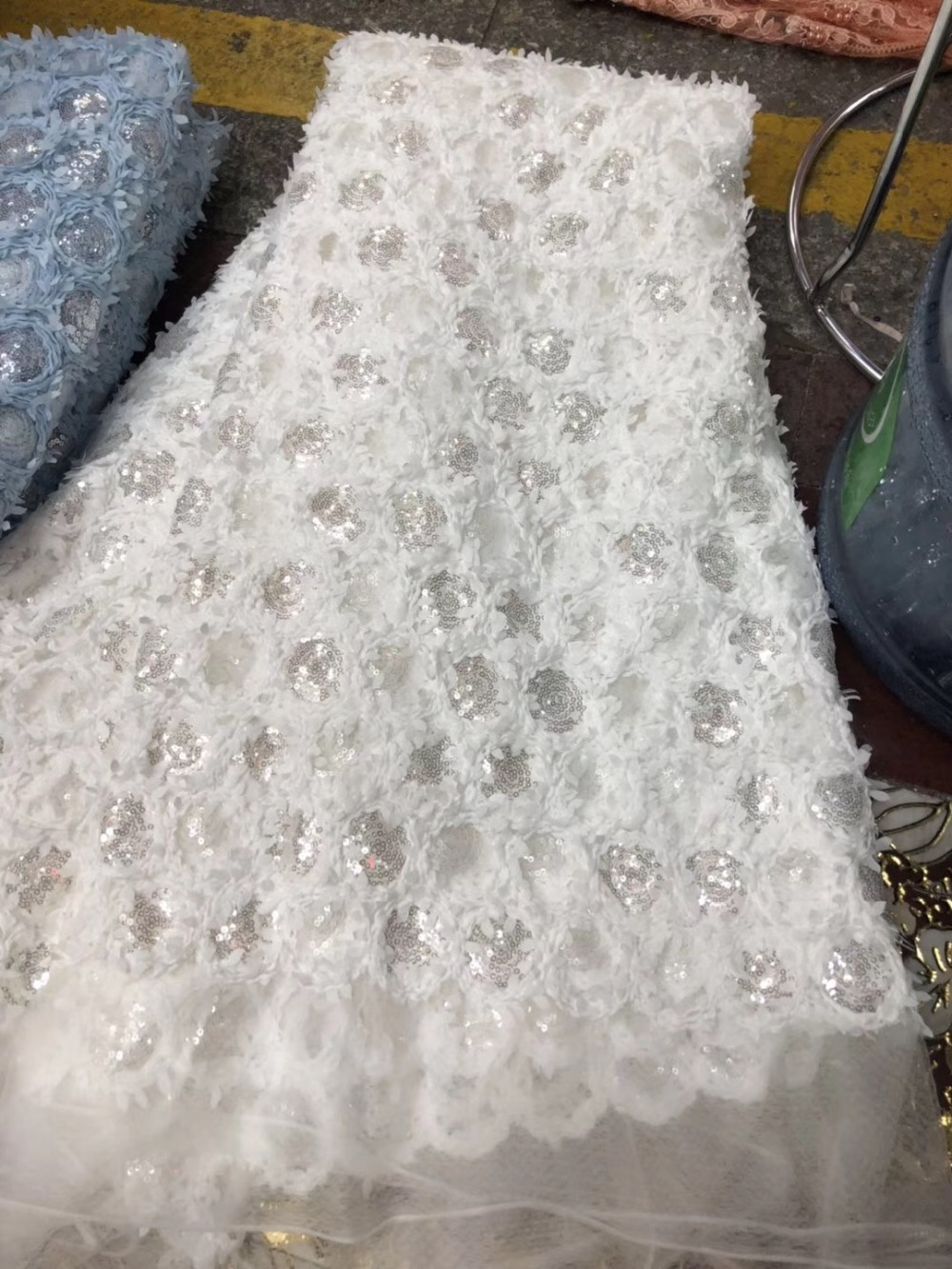 nigerian lace for sewing sequence fabric high quality french net lace 2019 5yard/lotnigerian lace for sewing sequence fabric high quality french net lace 2019 5yard/lot