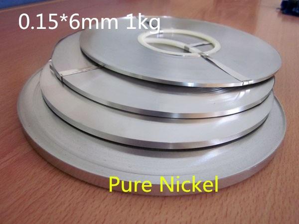 Haute qualité! Pure nichel 99.96% batterie pure nickel bande cellule connecteur batterie pure nickel plaque 0.15*6mm 1.0 kg