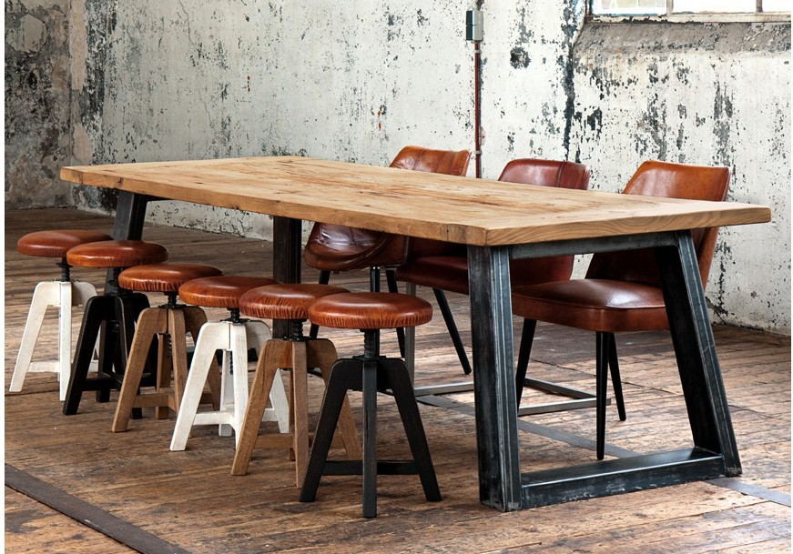 Charming American Country Style Retro Iron Industry To Do The Old Wooden Table,  Wrought Iron Table LOFT Old Pine Desk Minimalist Painting In Dining Tables  From ...