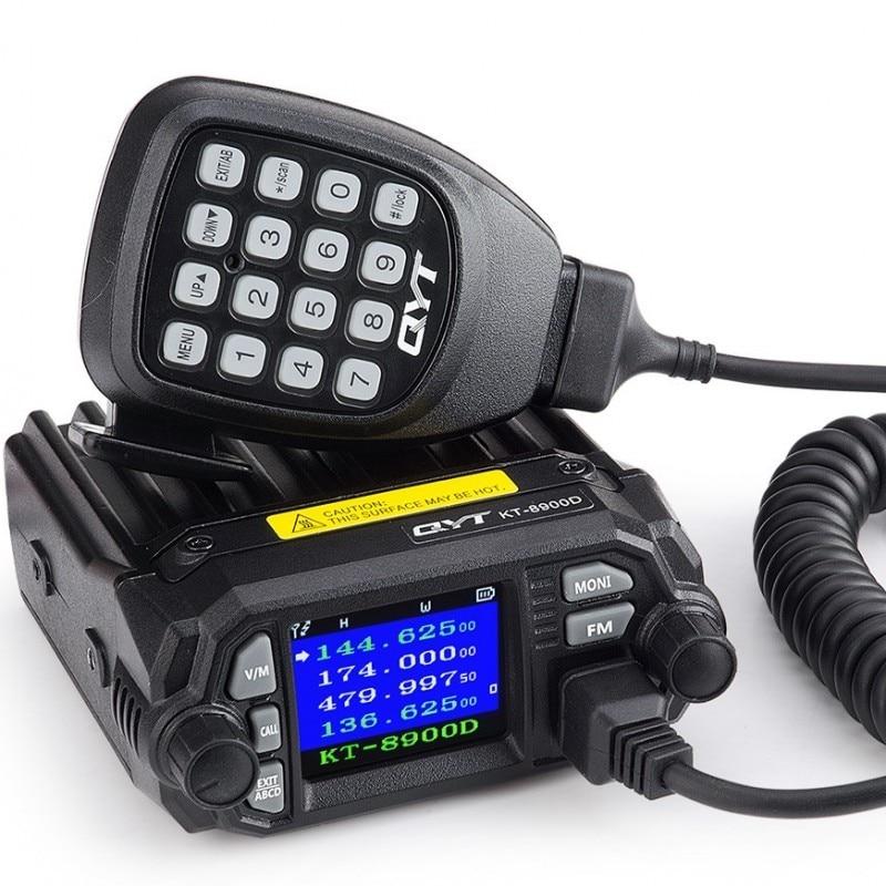Radio station QYT KT 8900D mobile car radio quad band Vhf/Uhf dual band color screen mobile radio for car base stationRadio station QYT KT 8900D mobile car radio quad band Vhf/Uhf dual band color screen mobile radio for car base station