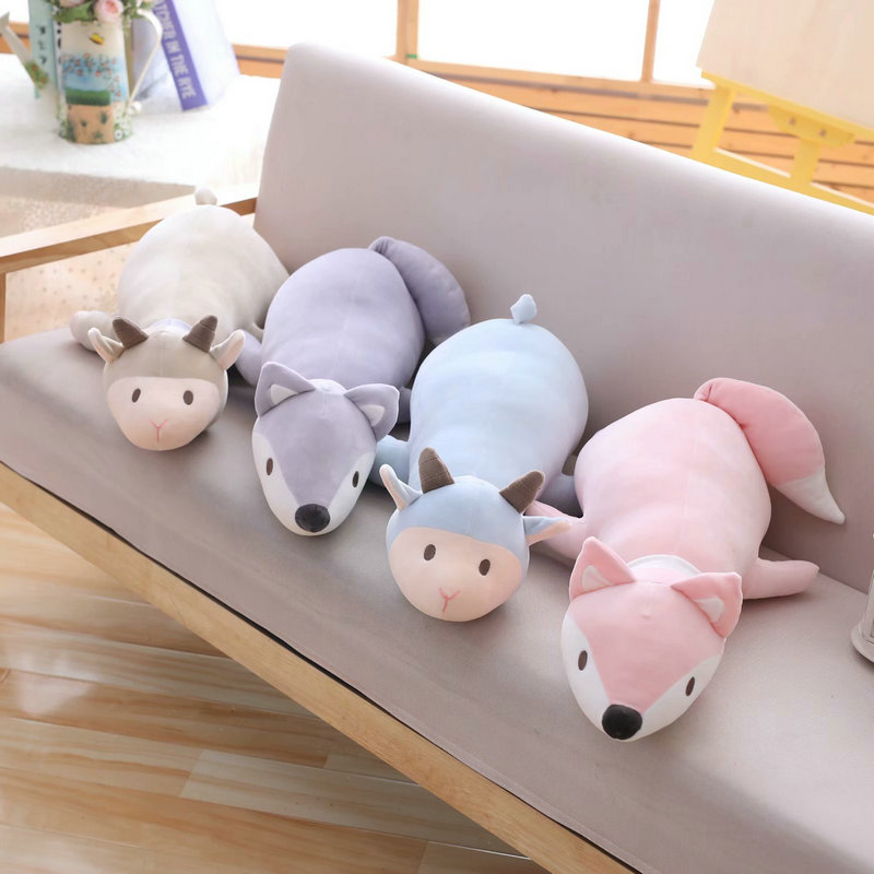 120cm New Sheep Dolls Stuffed Animals & Plush Toys for Girls Children Boys Toys Plush Pillow Fox Stuffed Animals Soft Toy Doll