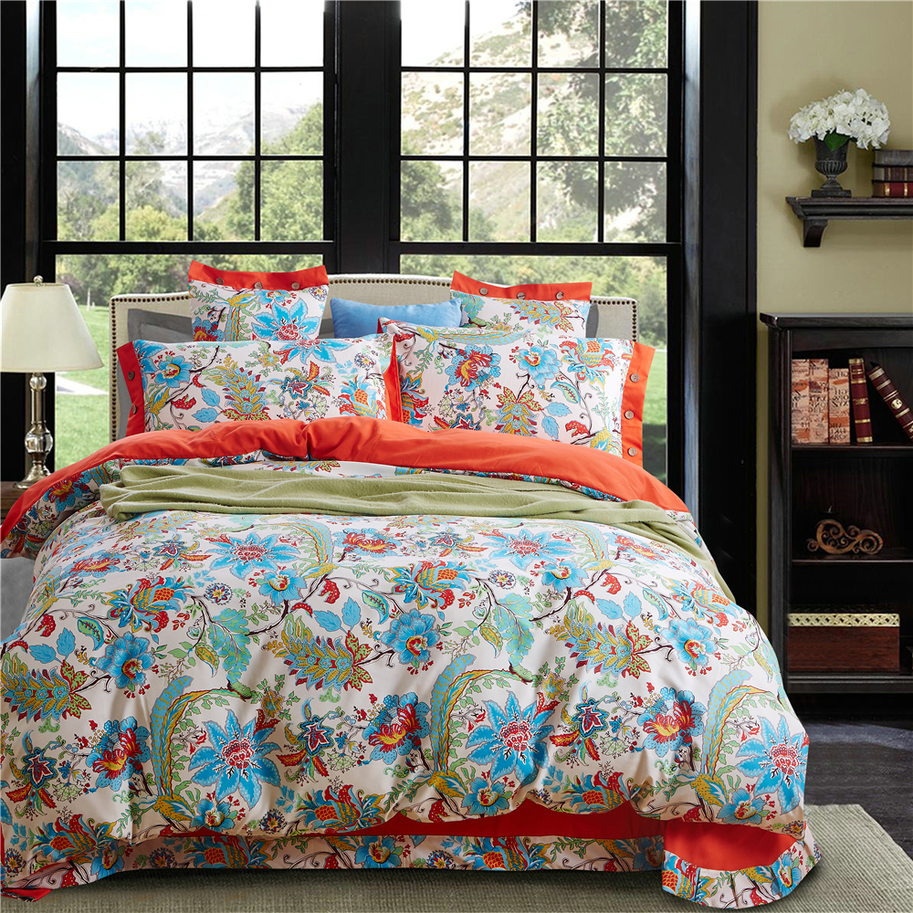 Turquoise bedding bohemian bedding luxury duvet covers designer comforters orange comforter sets for Beautiful bedroom comforter sets