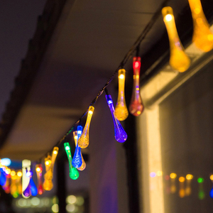 Image 3 - 크리스마스 조명 야외 LED 물 Dorp 공 문자열 새해 갈 랜드 휴일 웨딩 파티 장식 조명 5M 20 LED Solar