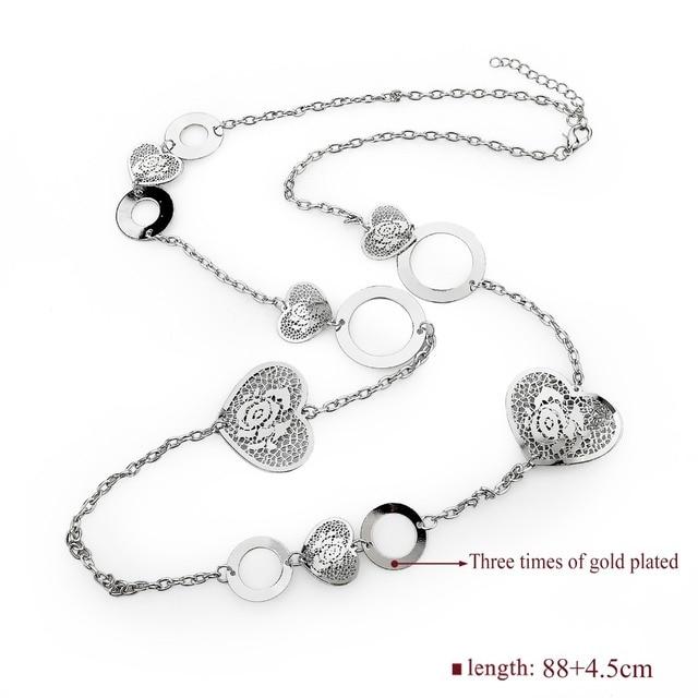 Фото женское ожерелье с длинной цепочкой toucheart дизайнерское роскошное цена