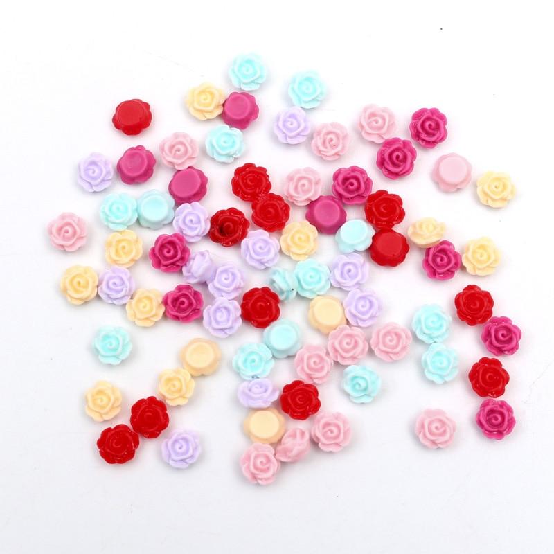 100Pcs Resin Flatback Embellishments Scrapbooking Cabochons DIY Button Crafts