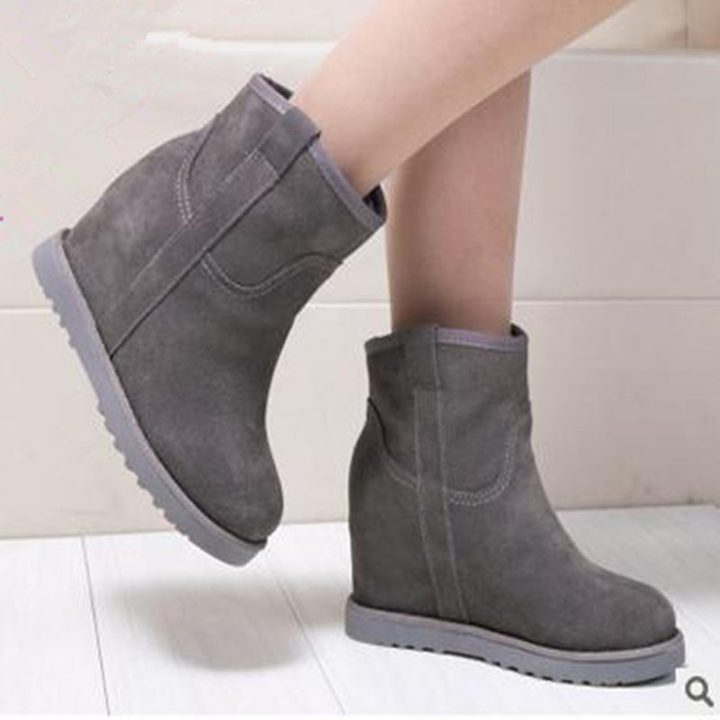 New short barrel matte leather factory wholesale winter warm slope with increasing snow boots font b