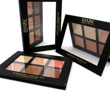 IMAGIC Professional Cream Contour Palette Concealer Palette Contouring Makeup Cosmetic Facial Care Cream Palette 6 Colors