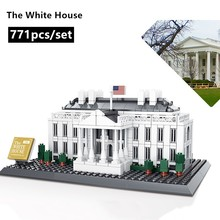 New World famous architectural The White House fit  city Building Blocks Bricks  DIY Toys For Children Birthday gift the jungle tree house my world building blocks diy forest kits bricks toys for kids gift 21125 compatible legos minecraft city