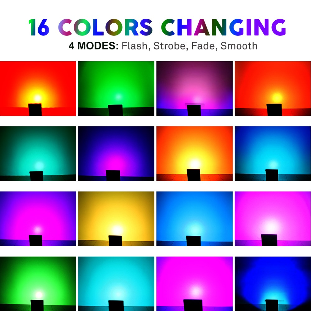 T Sunrise 50w Rgb Flood Lights Outdoor Color Changing Ip65