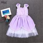 Ainclu Fancy Kids Baby Girls Purple Cotton Sofia The First Princess Costumes Cosplay Dress Cute Kids Dancewear Free Shipping