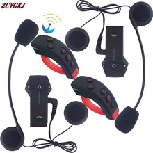 New 2 pcs Intercomunicador Motocicleta Bluetooth Motocycle Interphone with NFC FM Remote Control 3 Riders 1000M