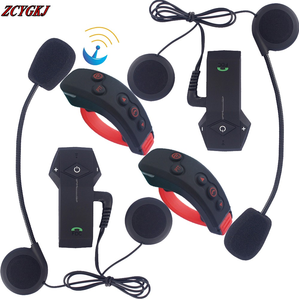 New! 2 pcs Intercomunicador Motocicleta Bluetooth Motocycle Interphone with NFC FM Remote Control 3 Riders 1000M Intercom