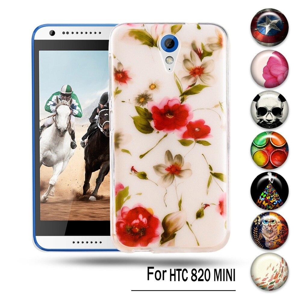 Diy pintado cajas del teléfono de tpu para htc desire 620g 620 dual sim 820 mini