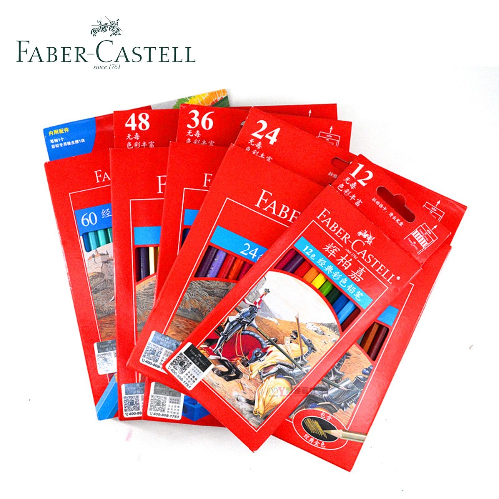 Faber Castell 60 Colored Pencils Premium lapis de cor Professional Classic Sketch Set Drawing Art Supplier Secret Coloring Book