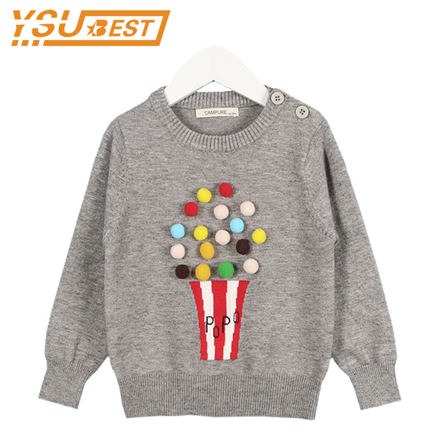 7bc0dcaf8 Campure New 2018 Autumn Baby Girls Sweater Kids Knitwear Popcorn ...