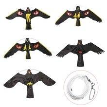 Mayitr Emulation Black Bird Repeller Flying Hawk Kite Garden Supplies Scarecrow Decoration Pest Control