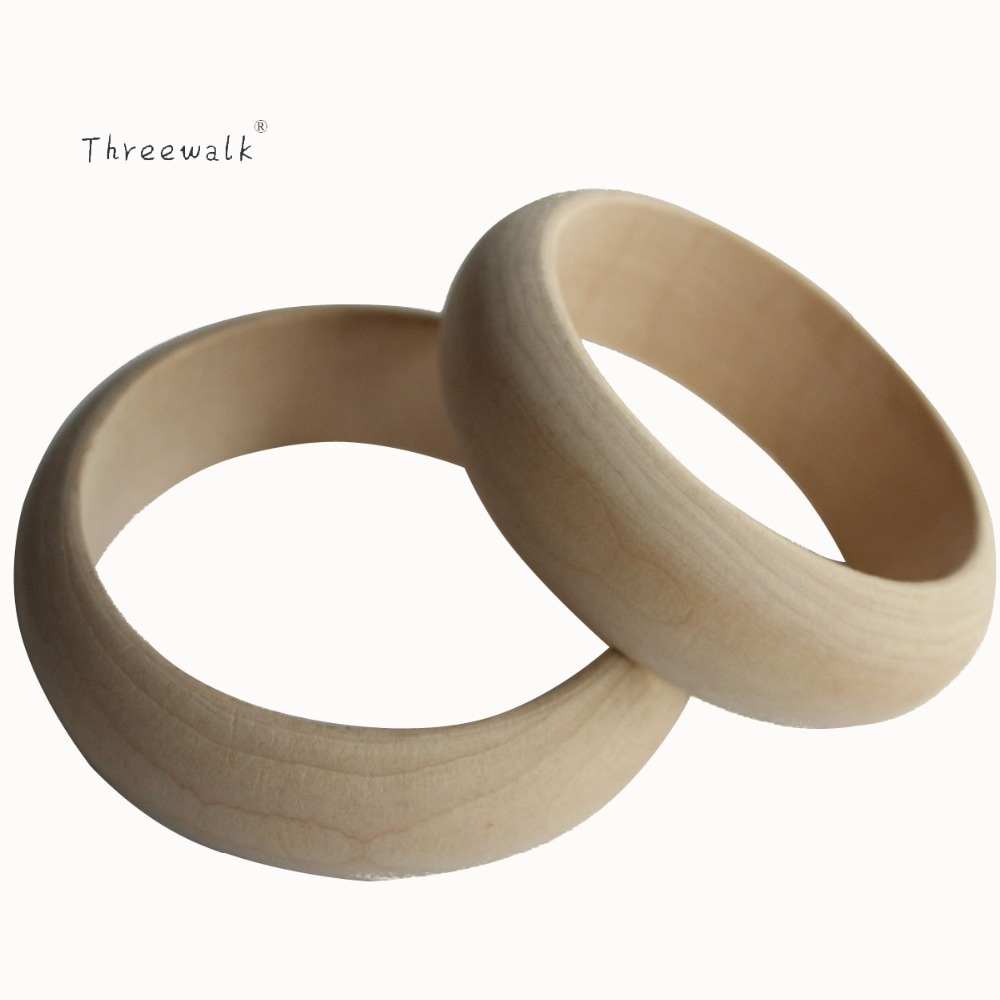 Wholesale 5pcs/Lot 2.2cm Width Vintage Unfinished Wooden Bangle Bracelets Womens High Quality Handmade Diy Painting