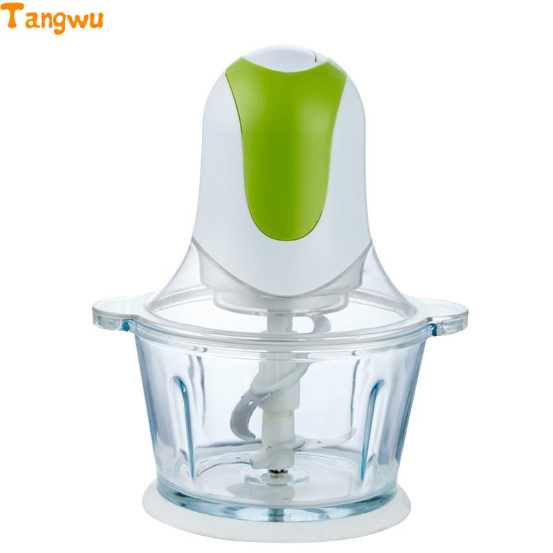 Free shipping Household electric meat grinder multi-function small side dish blender mixing food Meat Grinders bear 220 v hand held electric blender multifunctional household grinding meat mincing juicer machine