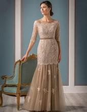2017 mutter der Braut Kleider Mit Ärmeln Spitze Elegante Für Hochzeit Abendgesellschaft Kleider Frauen Formale Kleid