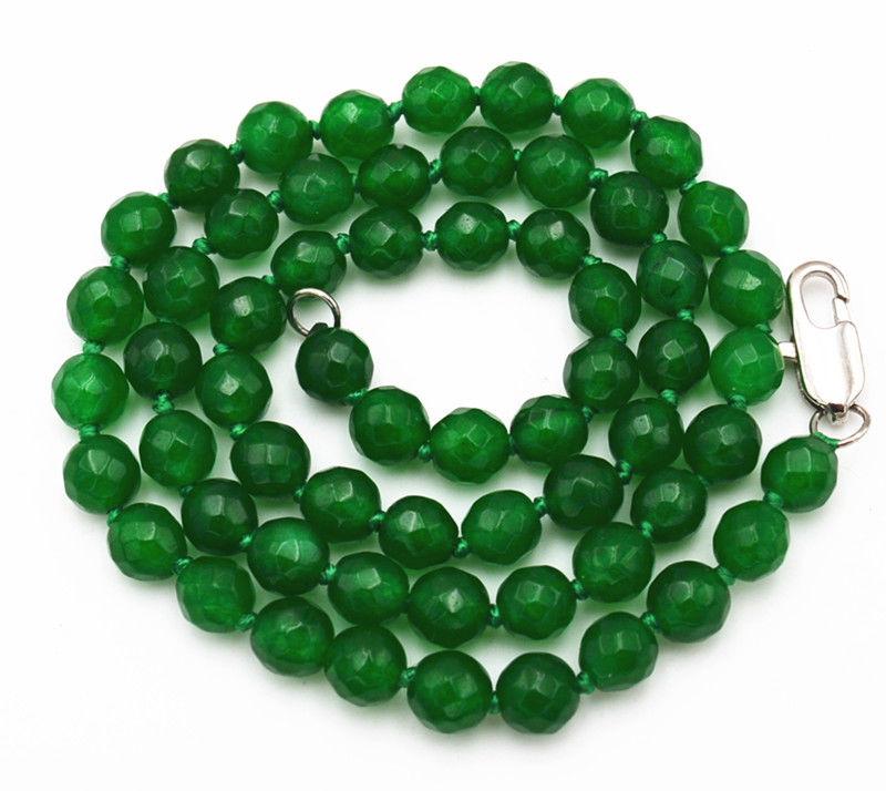 """Exquisito 6-14mm Verde Jade Gemas Joyas Collar de 17 /"""""""