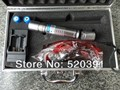 NEW 445nm/447nm/450nm 8000mw / 8Watt blue laser pointers burn match/balloon/dry wood/cigarettes+5 caps+glasses+changer+gift box