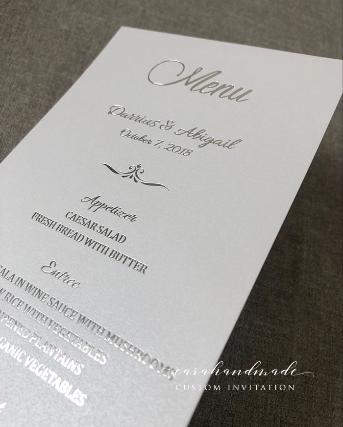 wedding card 80 Rose Gold Foil Menu Cards Foil reception stationary table menu cards gold foil place card luxury day of event cards