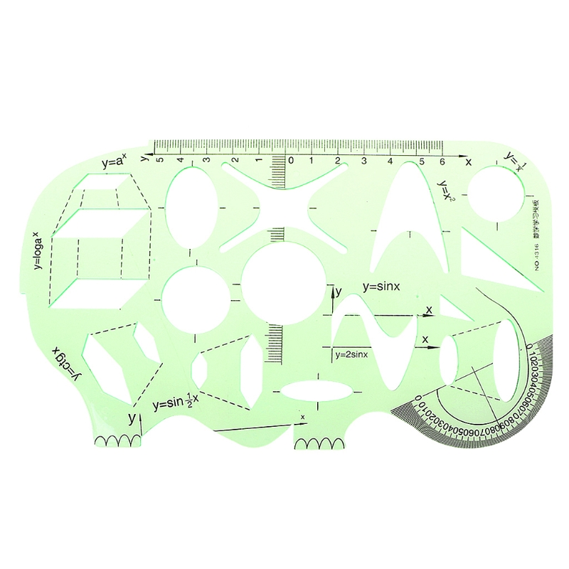 School Office Students Math Circle Measuring Drawing Template Ruler Stationery Template Ruler