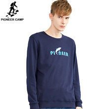 Pioneer camp hoodies sweatshirts men brand clothing casual shark printed sweatshirt male quality tracksuit AWY802199(China)