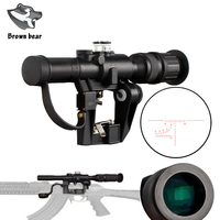 Red Illuminated 4x24 PSO 1Type Hunting Scopes Riflescope for Tactical Hunting Dragonov SVD Sniper Rifle Series AK Rifle Scope