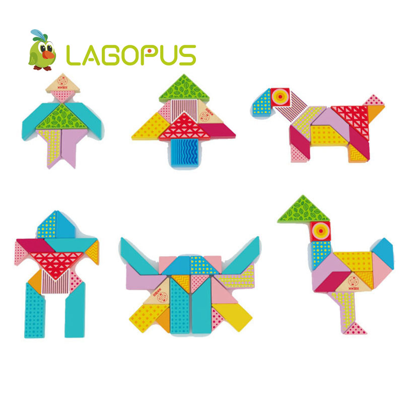lagopus Early Education Cube puzzle toys Varieti B&lock Developing Logic Thicking Wooden Toys gift for Kids Children's - 3