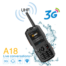 A18 Walkie Talkie UHF 3800mah IP68 Su Geçirmez Akıllı Telefon Android4.2.2 Çift SIM Akıllı Radyo GPS Zello 3G WCDMA Cep telefonu