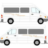 2x LifeStyle Graphics One For Each Side Camper Van Graphics Motor Home Truck Vinyl Graphics Kit