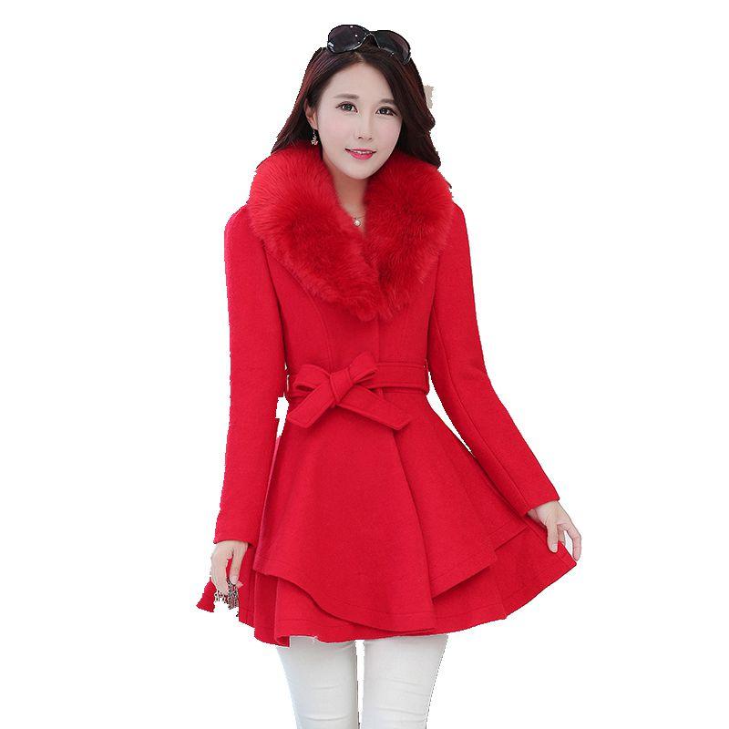 Elegante Nouvelle Manteau Femelle Mince Mujer Longue Veste Style Abrigos Taille Laine De Section 2 1 Jupe 71XHr7