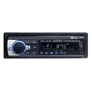 Image 1 - ショート 520 12 ボルト 1Din 車 MP3 プレーヤー車の音楽プレーヤー TF カード USB フラッシュディスクの Aux fm トランスミッタリモコンで